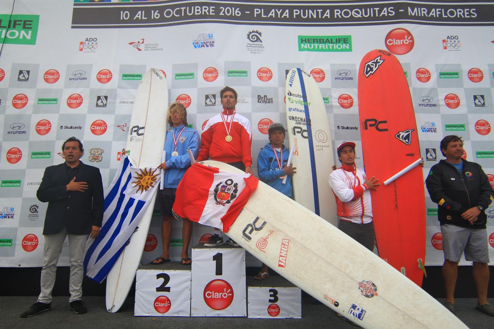 Campeones Longboard Hombres.
